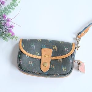 Dooney & Bourke Rainbow logo wristlet with charm